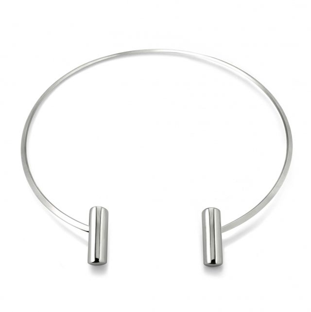 Capwell & Co. Silver Bar Collar Necklace