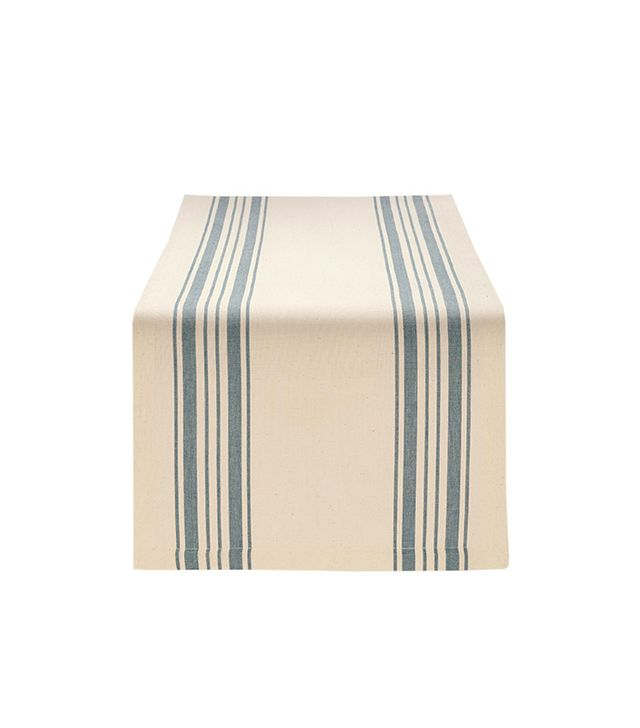World Market Blue Villa Stripe Table Runner