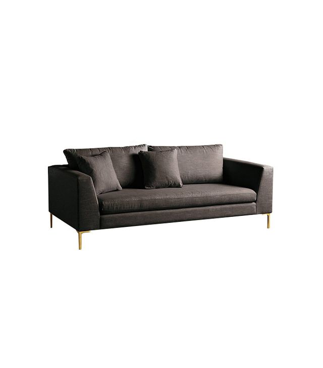 Anthropologie Linen Edlyn Sofa