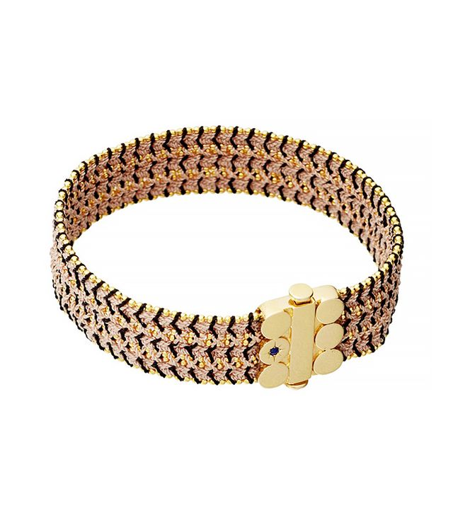 Astley Clarke Extra Wide Dusky Stones Woven Bracelet