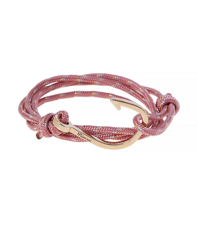 Miansai Gold Hook Rope Bracelet