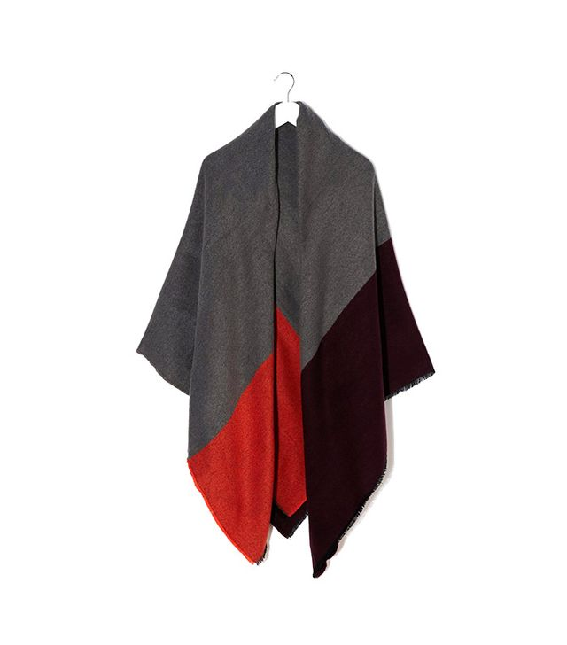 ASOS Oversized Scarf In Color Block