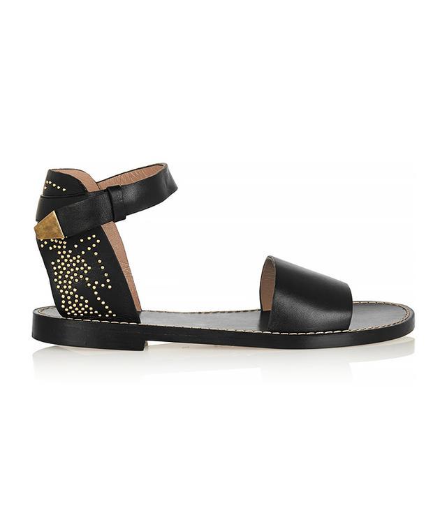 Chloé Studded Leather Sandals