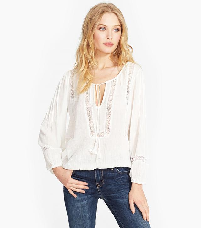 Joie Arcene Cotton Peasant Top