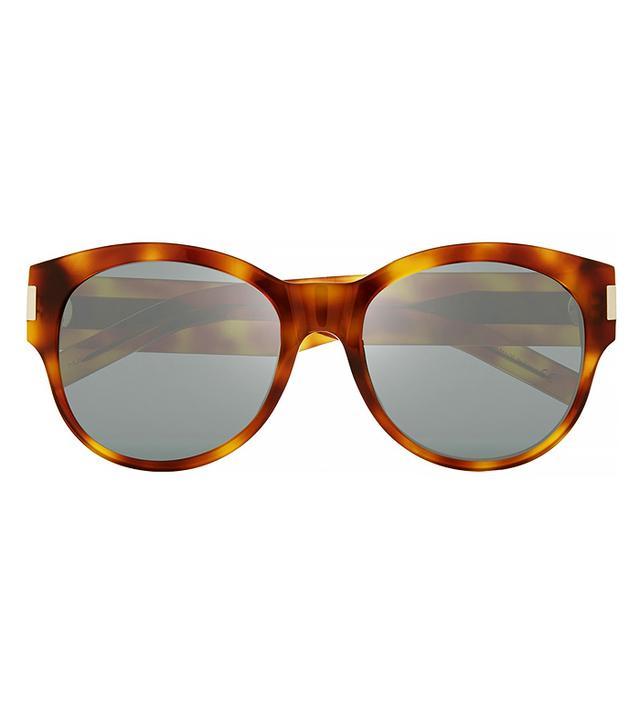 Saint Laurent Oversized Round-Frame Acetate Sunglasses