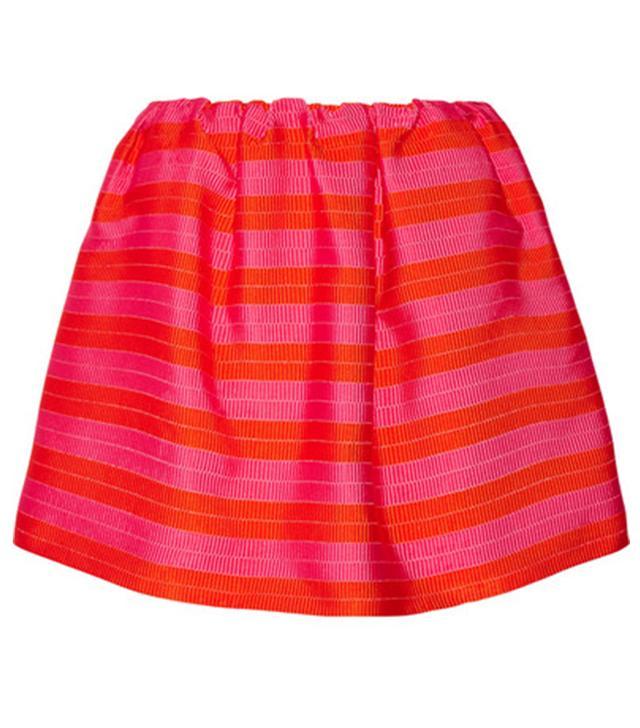 Delpozo Striped Jacquard Mini Skirt