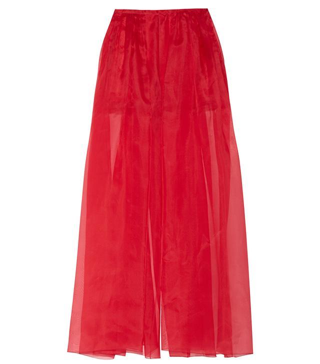Delpozo Silk Organza Wide-Leg Pants