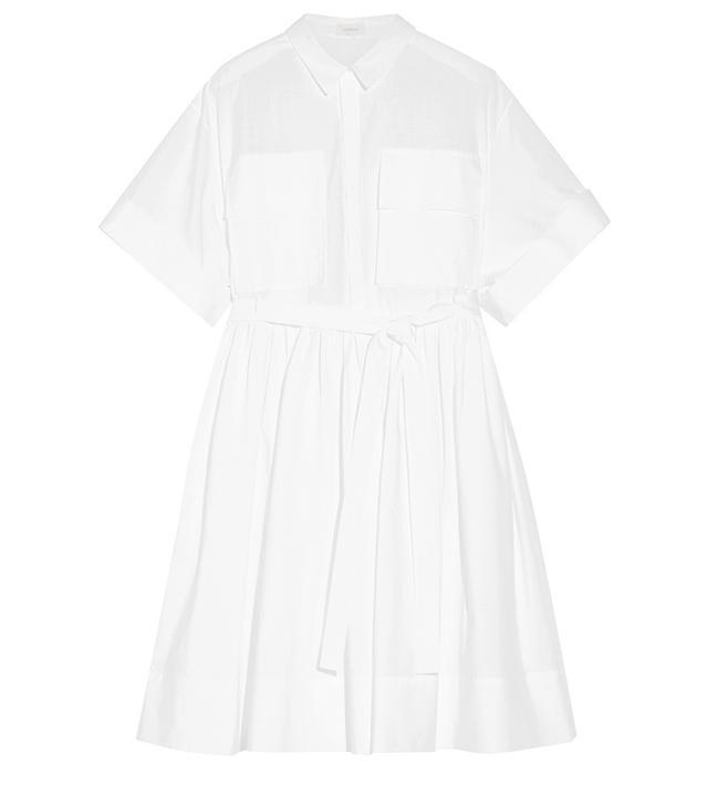 Delpozo Cotton Poplin Shirt Dress