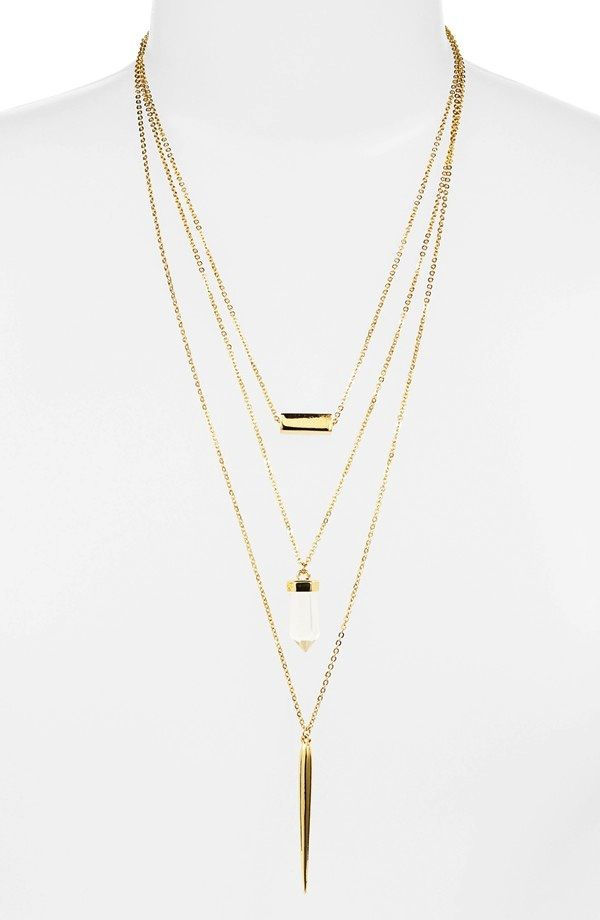 BaubleBar Wizardry Layered Pendant Necklace