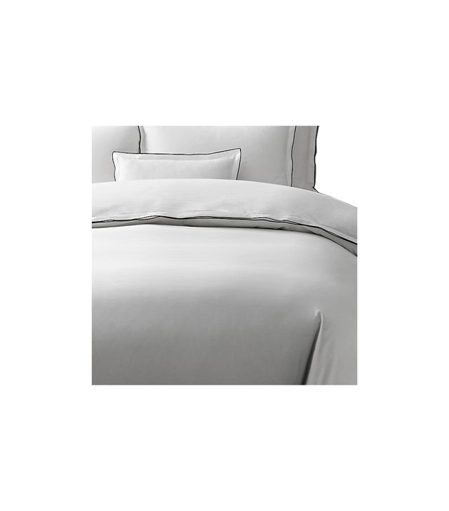 Restoration Hardware Italian Tipped Satin Stitch Duvet Cover