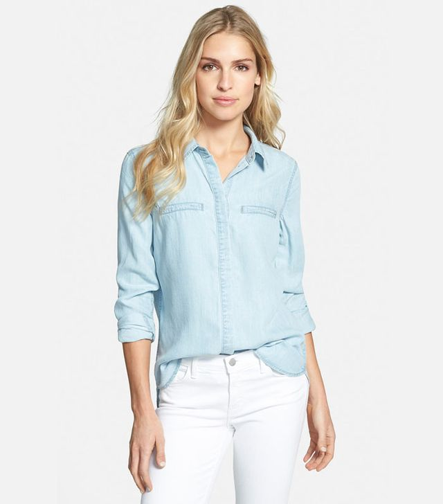 Paige Denim Bellamy Button Front Denim Shirt