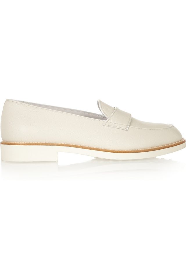 Tod's Textured-Leather Loafers