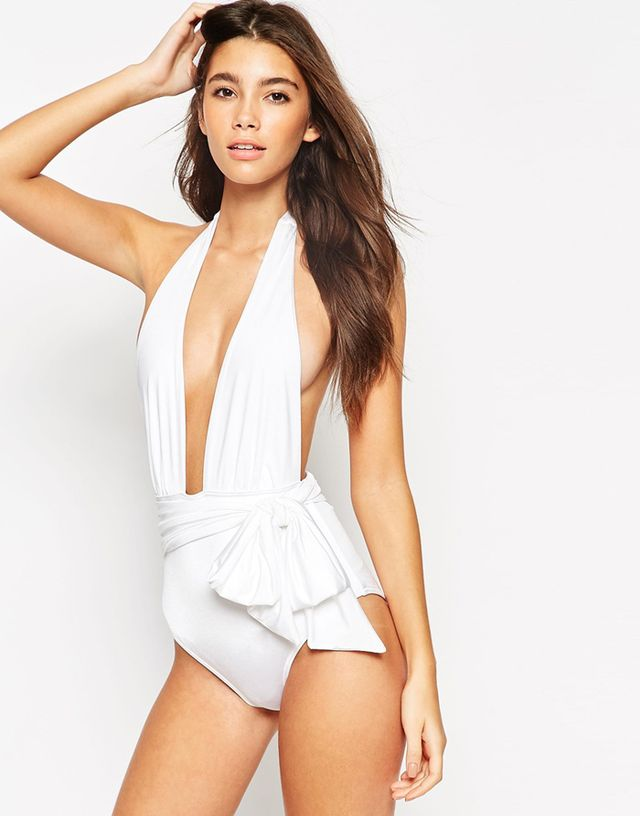 ASOS Belted Plunge Swimsuit