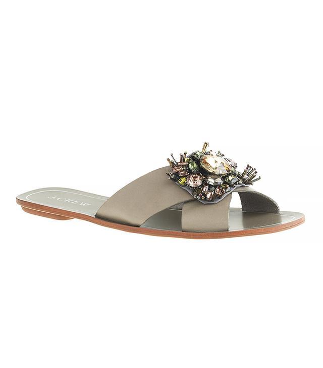 J.Crew Cyprus Jeweled Sandals