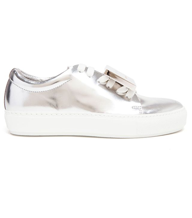 Acne Studios Adriana Metallic Smiley Face Trainers