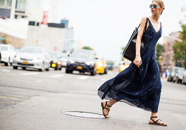 Forgo flip-flops for strappy leather sandals: