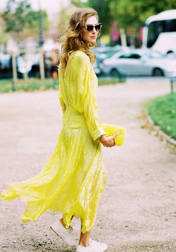 Chiara Ferragni maxi dress