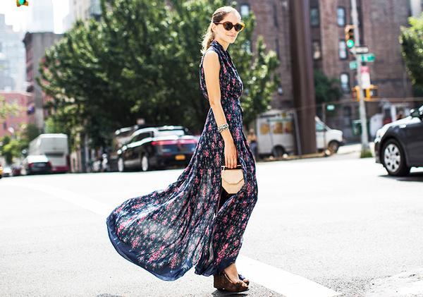 maxi dress with platforms