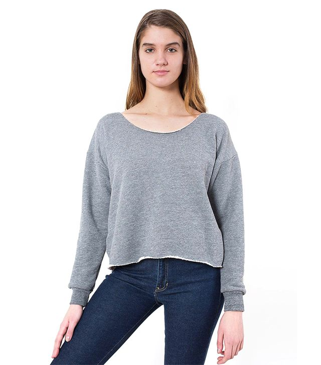 American Apparel Athletic Crop Sweatshirt