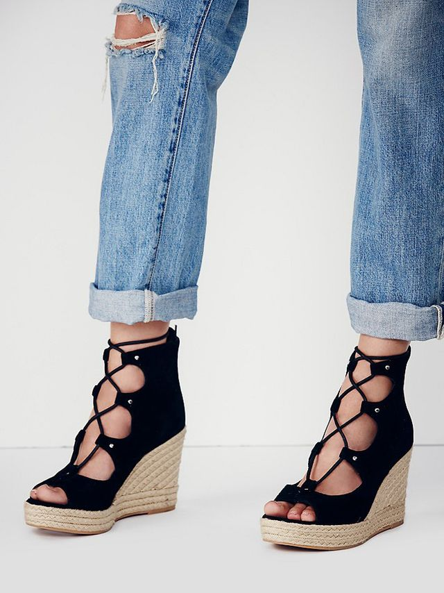 J/Slides Prima Lace Up Wedges