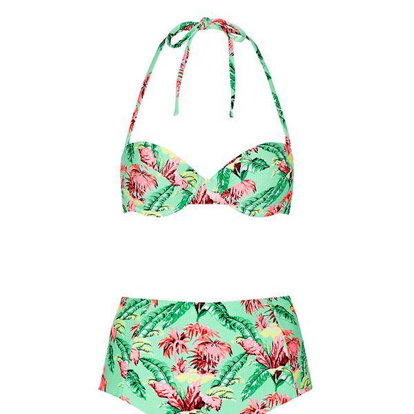 Topshop Tropical Print Bikini Set