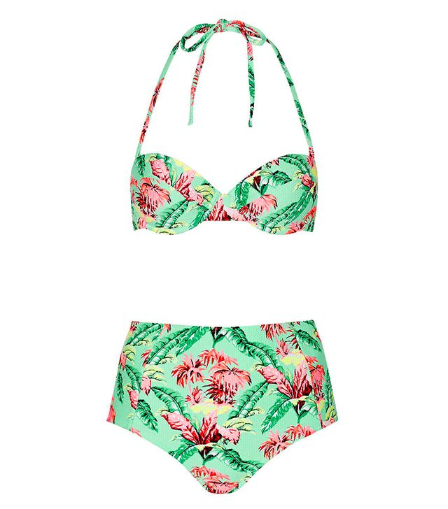 Topshop Tropical Print Bikini Set
