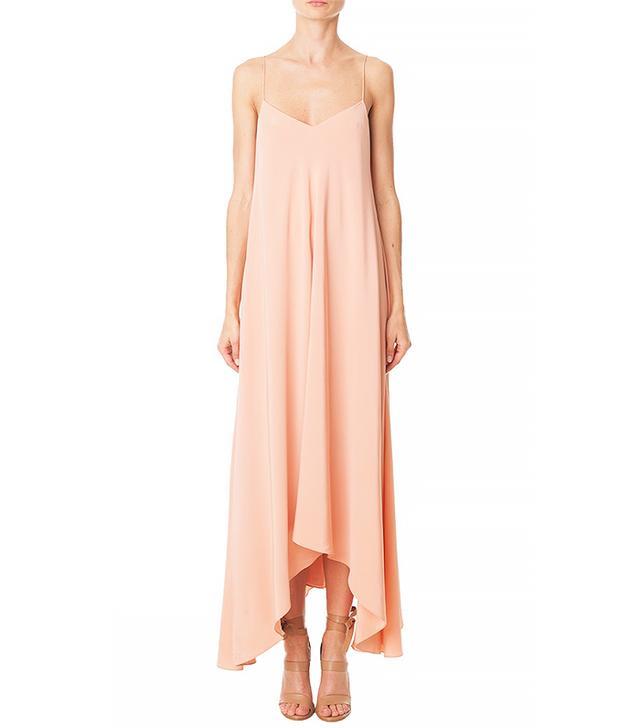 Tibi Silk Handkerchief-Hem Dress