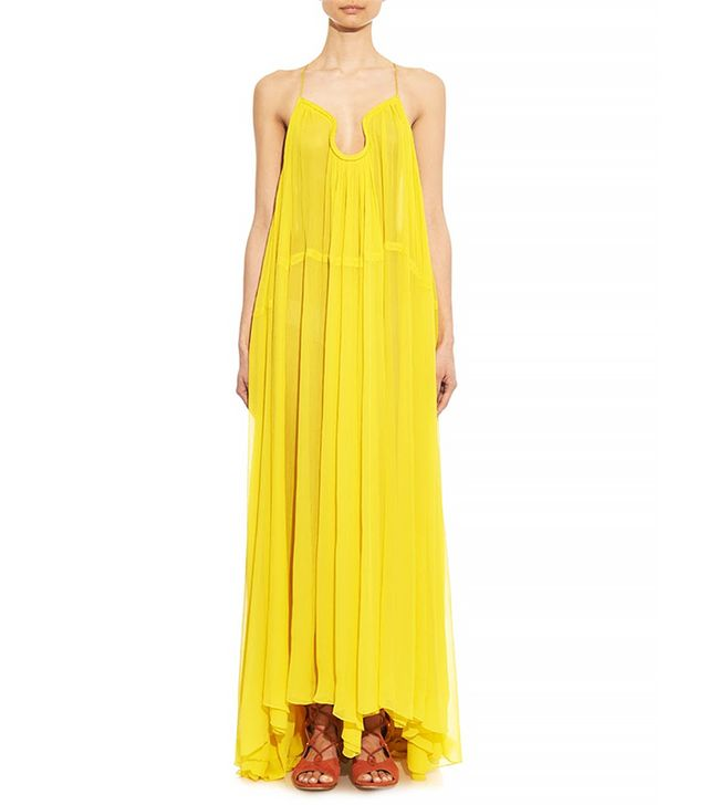 Chloé Silk-Voile Maxi Dress