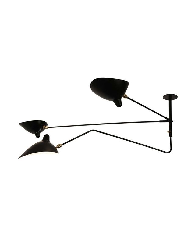 Serge Mouille Ceiling Lamp With Three Arms