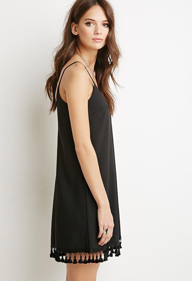 Forever 21 Tassel-Hem Cami Dress