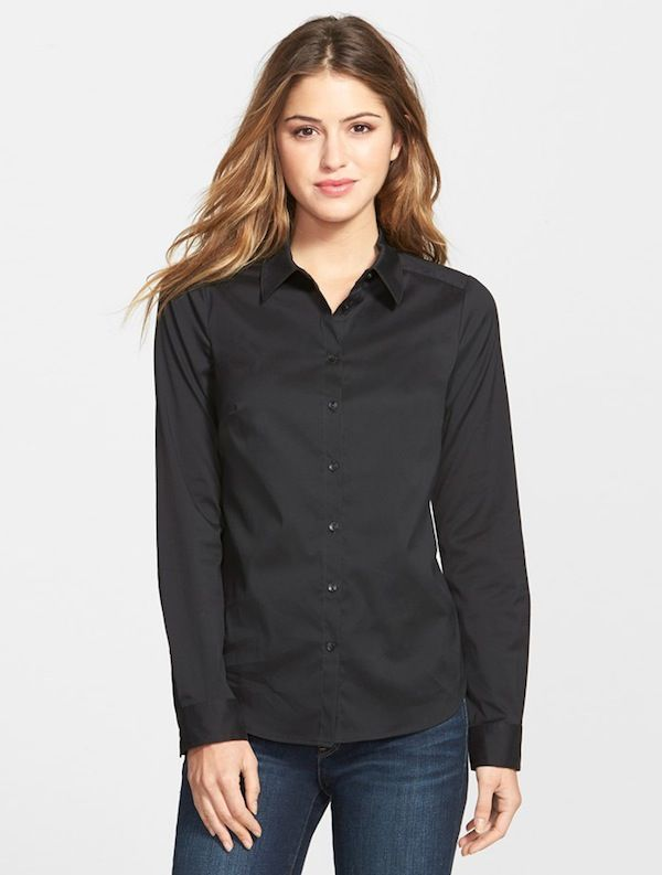 NYDJ Fit Solution Poplin Shirt