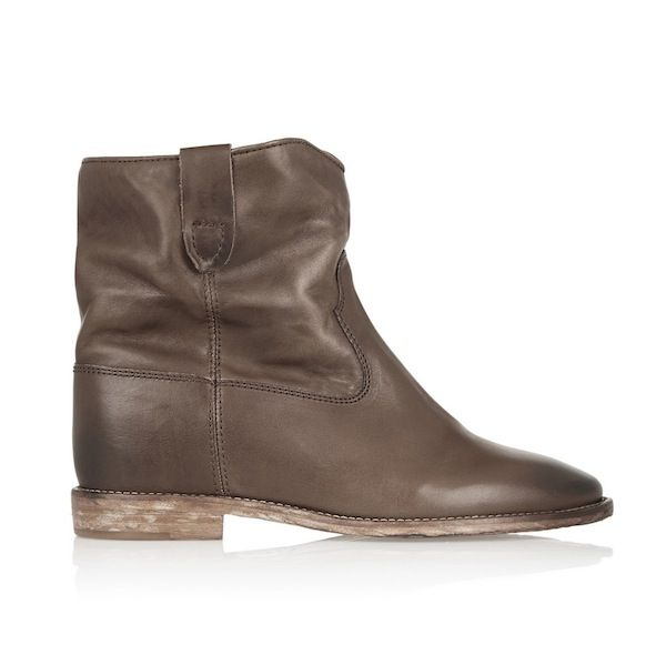 Isabel Marant Étoile Cluster Leather Concealed Wedge Ankle Boots
