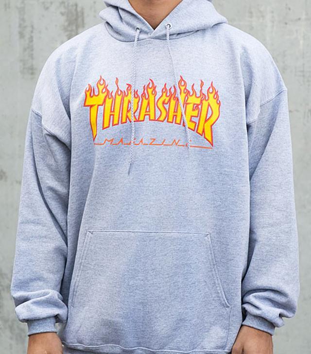 Thrasher Flame Logo Hood Sweatshirt