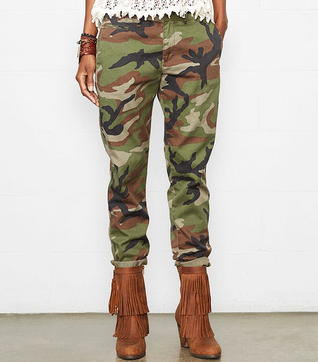 Denim & Supply Camo Skinny Boyfriend Pants
