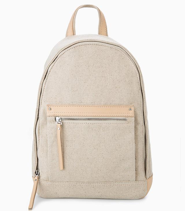 Mango Pocket Linen-Blend Backpack