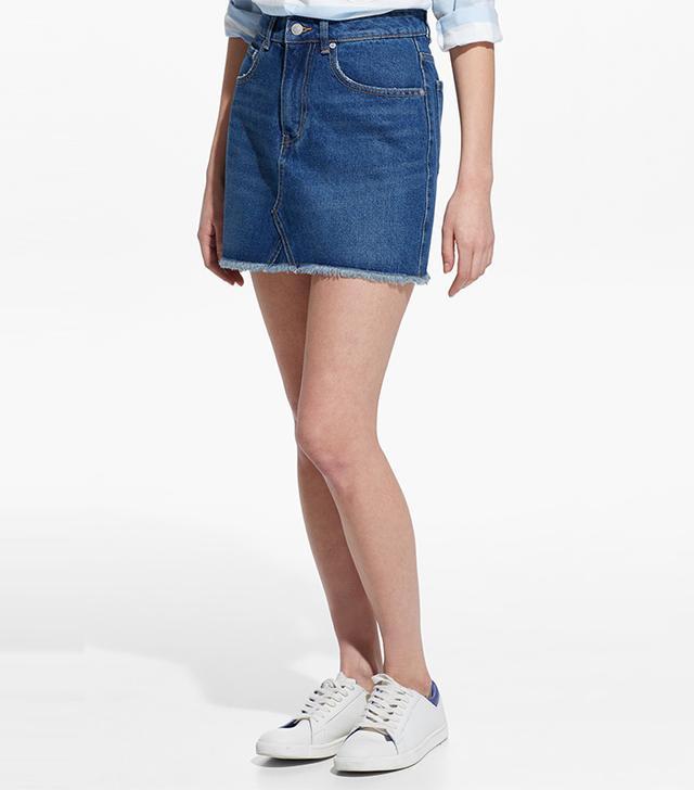 Mango Dark Denim Skirt