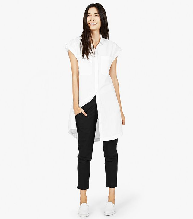 Everlane The Short Sleeve Shirt Dress