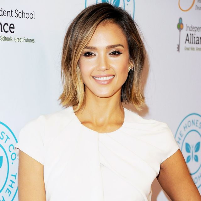 Yes! Jessica Alba Is Stunning in Vibrant Coral for Summer