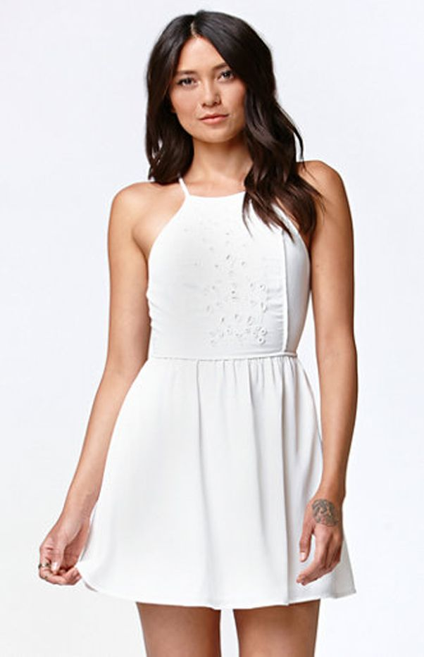 Kendall & Kylie for PacSun Beaded Goddess Neck Dress