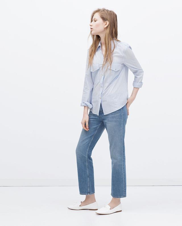 Zara Glossy Flats