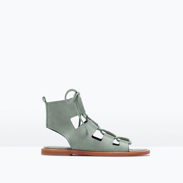 Zara Leather Roman Sandals