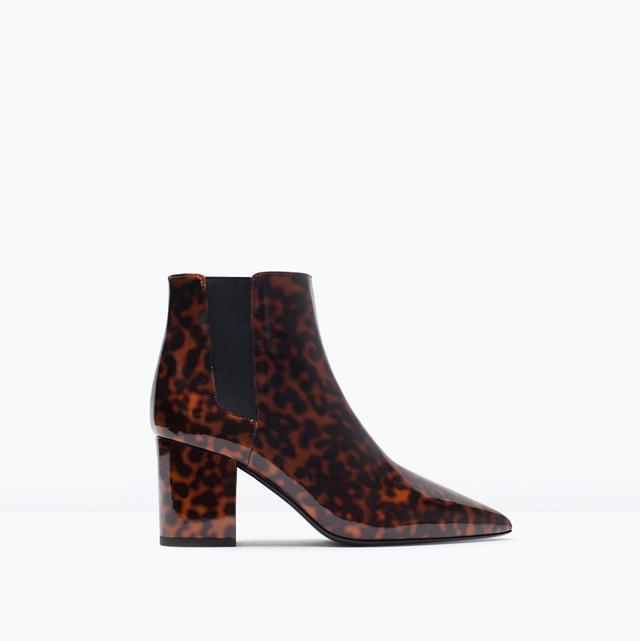 Zara Leopard Ankle Boots