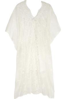 Miguelina  Rachel Crochet Cotton-Lace Kaftan