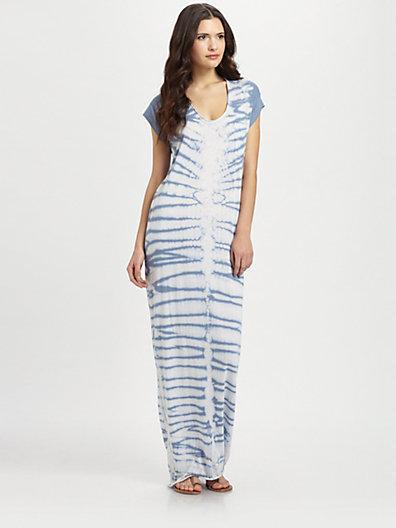 Raquel Allegra  Tie-Dyed Long Caftan