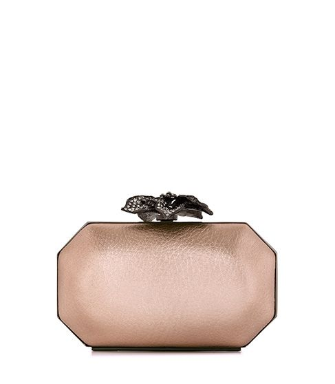 Reiss Luna Embellished Flower Clasp Clutch