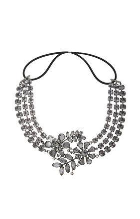 BCBGMaxazria Floral Chain Headband