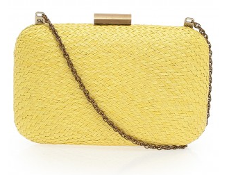 Serpui Marie Woven Rectangle Clutch
