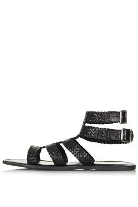 Topshop  Highly Woven Gladiator Sandals