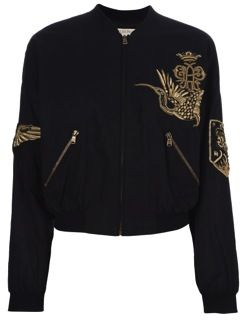 Emilio Pucci  Embroidered Bomber Jacket