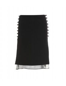 Emilio Pucci  Tailored Skirt with Knotted Buttons